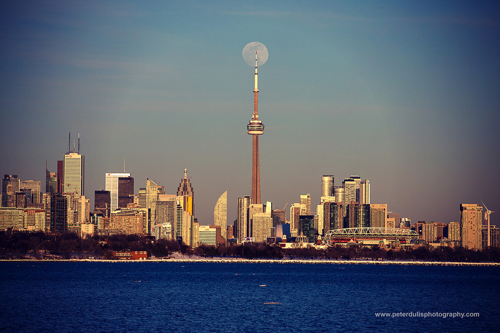 The super snow moon over Toronto by pdulis