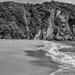 Lonely Beach B&W