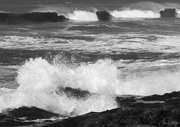 21st Feb 2019 - Black and White Yachats Surf cropped