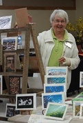 23rd Feb 2019 - Sue selling her photo cards at the Garden Expo
