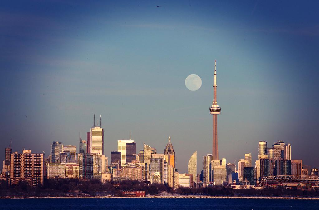 Toronto Snow Moon by pdulis