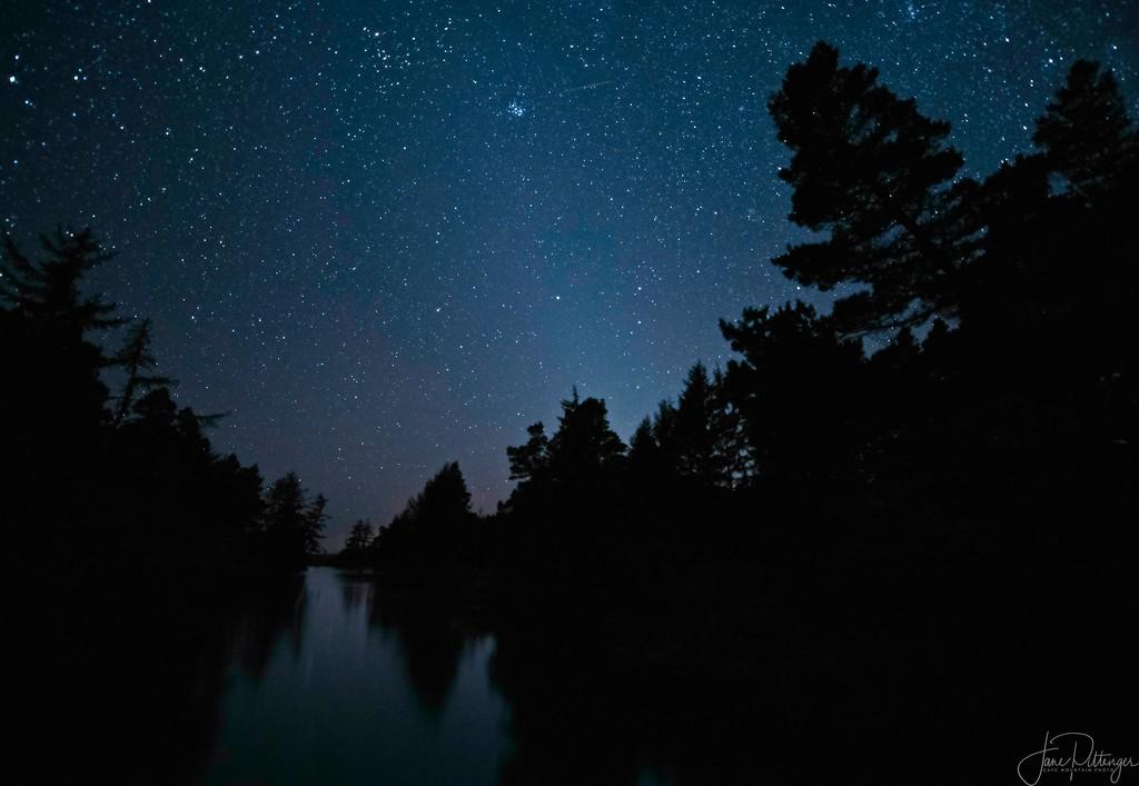 Night Sky from Waxmyrtle Bridge by jgpittenger