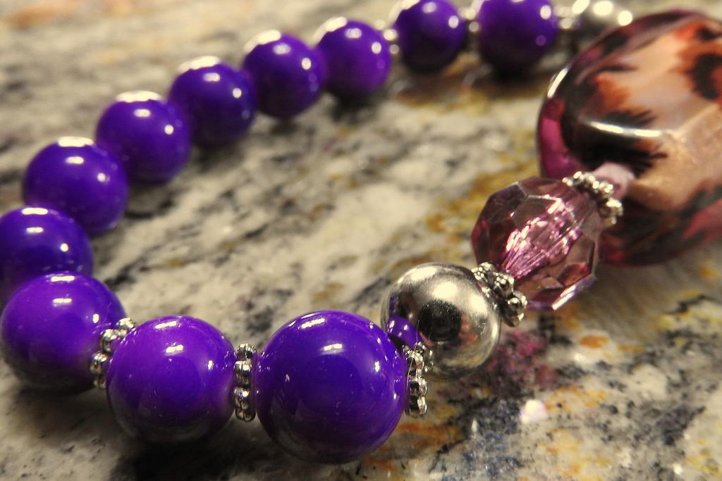 Purple beads by homeschoolmom
