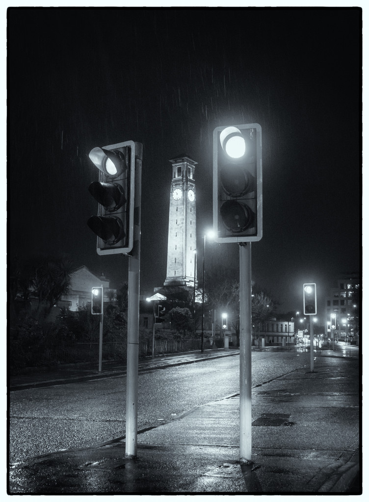 Clock Tower in the Rain by humphreyhippo