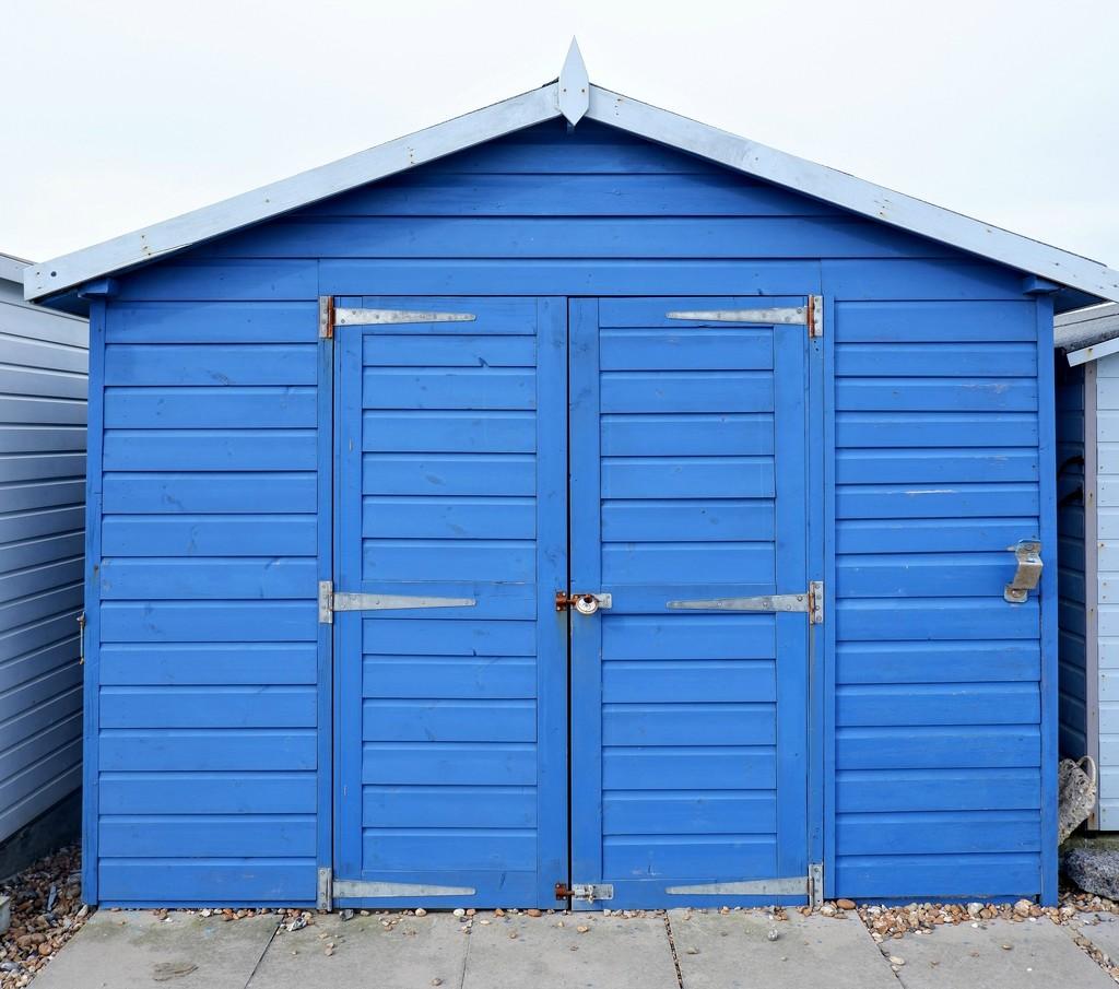 Beach Hut Blue by 4rky