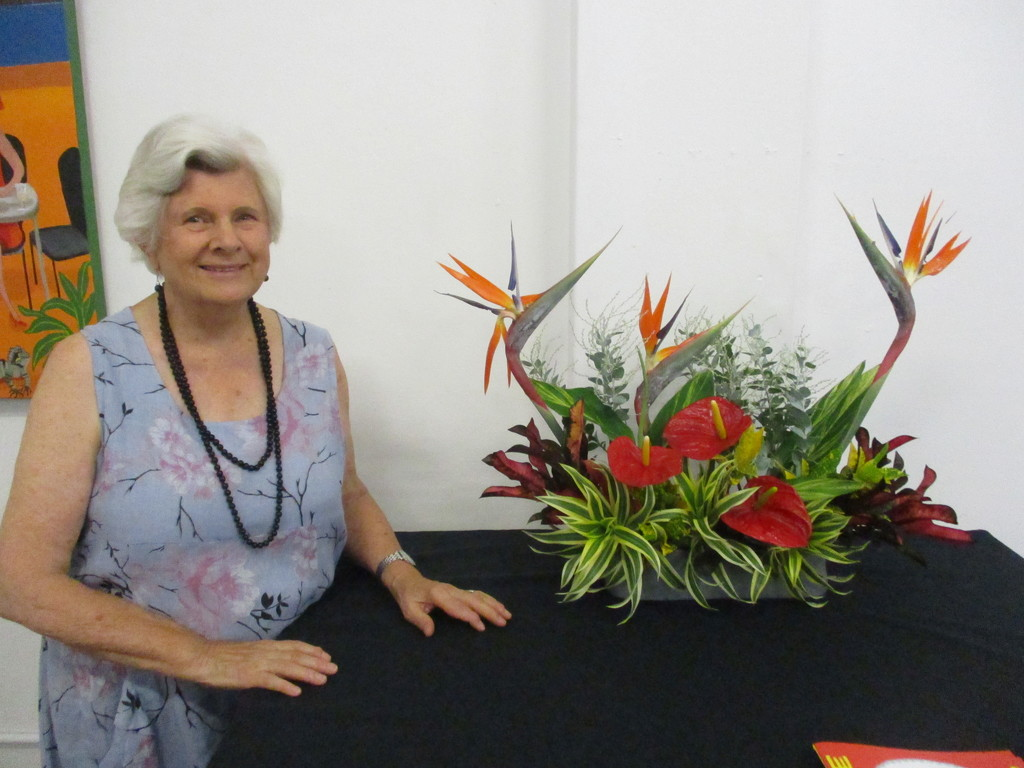 My daughter took this.  I was asked to make a floral arrangement for my friends Art opening exhibition by 777margo