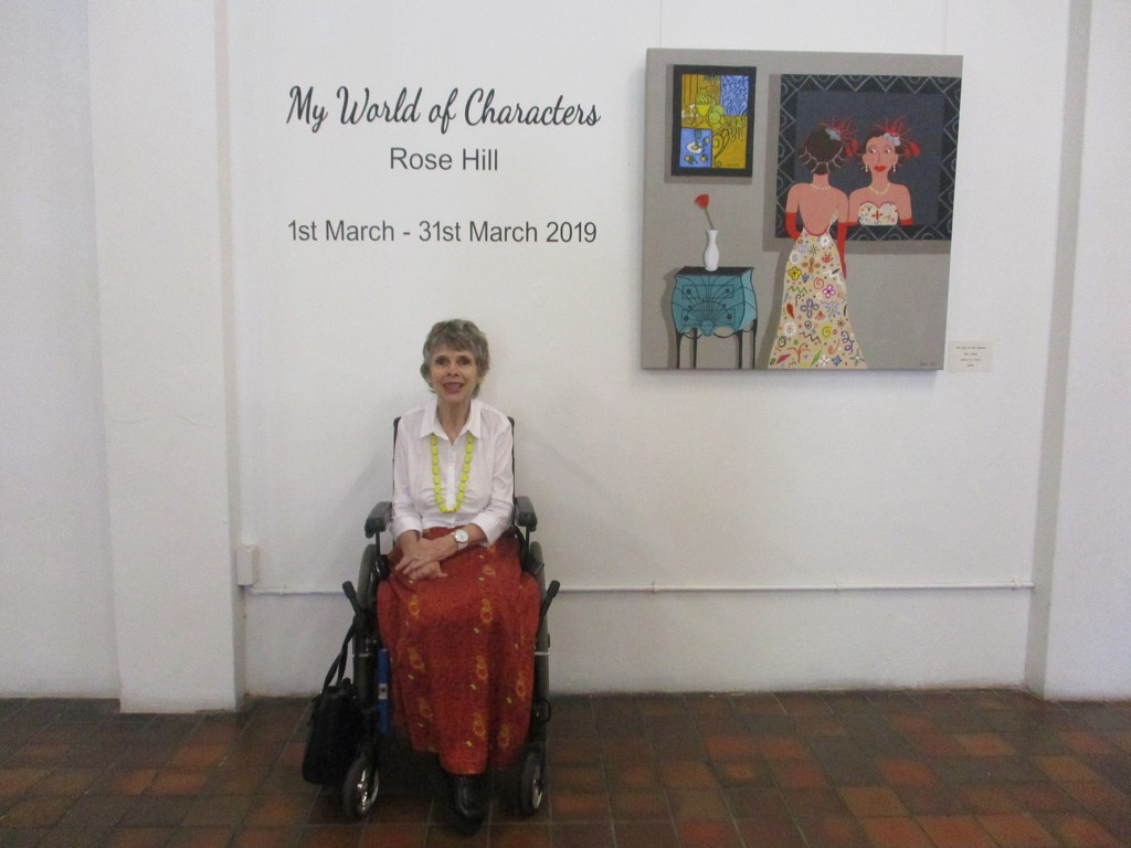 My friend Rosemary at the opening of her first Art exhibition by 777margo