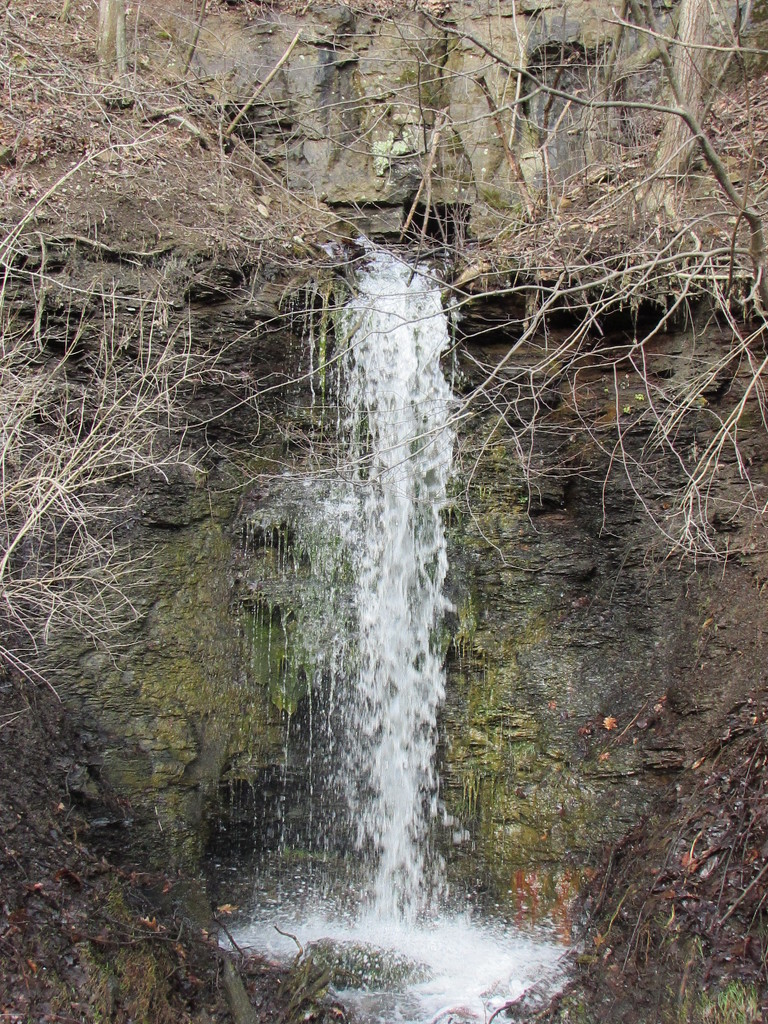 waterfall along a back road by julie