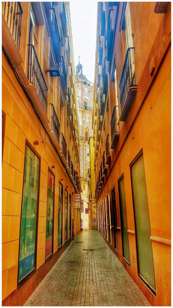 Love the narrow alleyways in Malaga - for the rainbow challenge  by lyndamcg