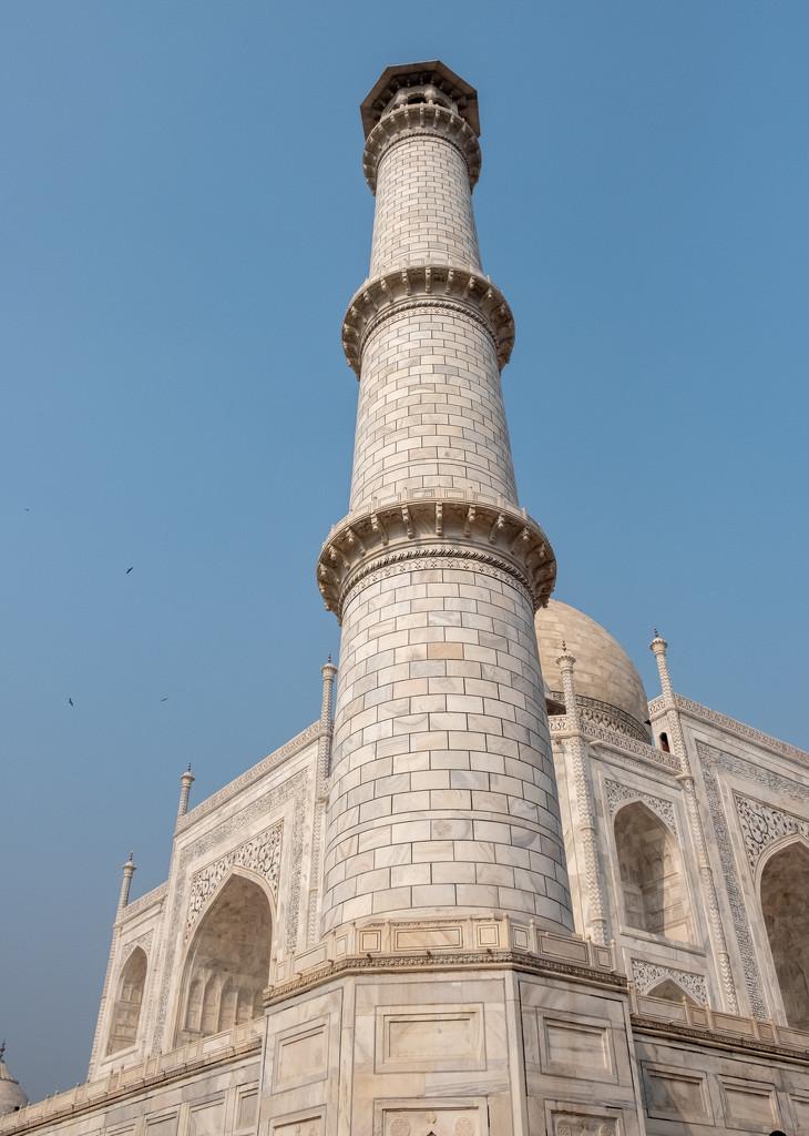 Taj Mahal: Minaret by golftragic