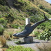 Sculpture on one of the Bays of Wellington New Zealand