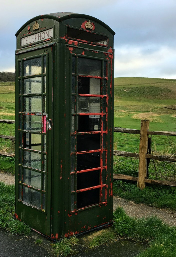 Green telephone box by 4rky