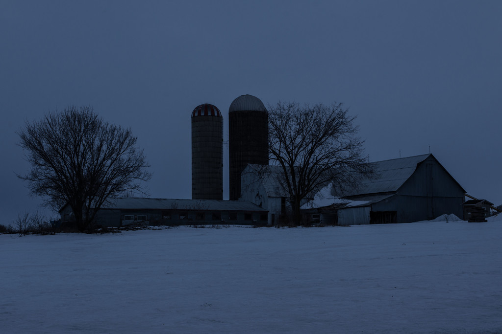 March Words - Blue Hour  by farmreporter