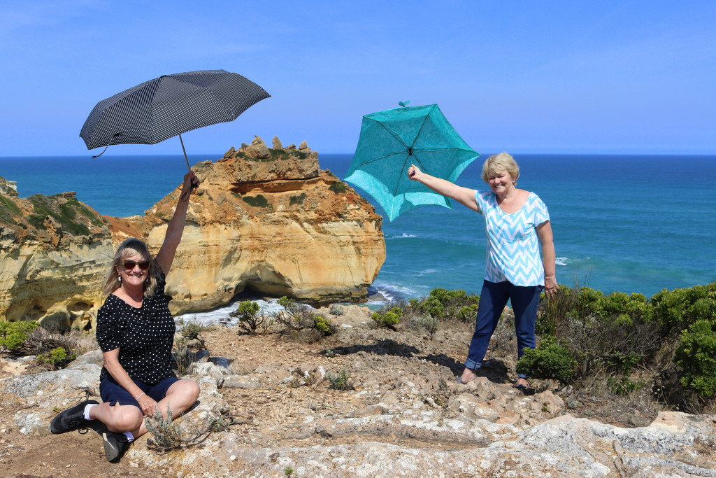 Brolly girls shelter Australia from the hot sun by gilbertwood