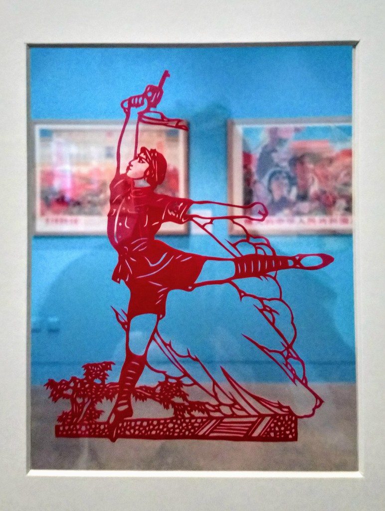 Papercut of a scene from the ballet Red Detachment of Women by boxplayer