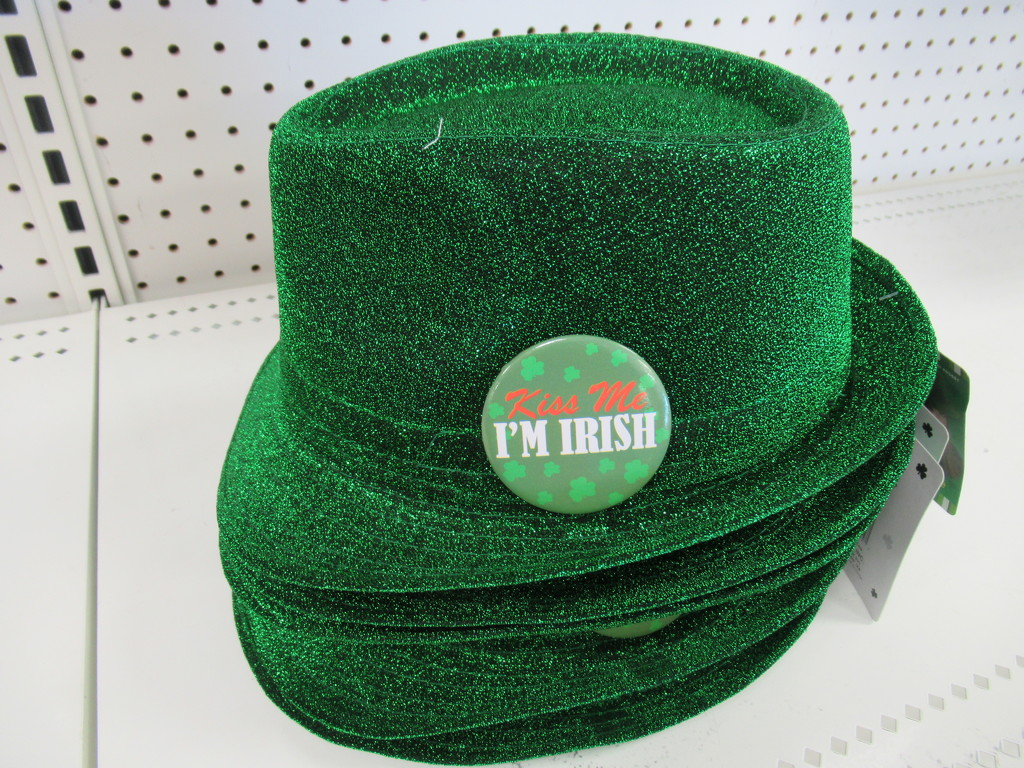 These hats say kiss me I'm Irish - Happy St. Patrick's Day by bruni