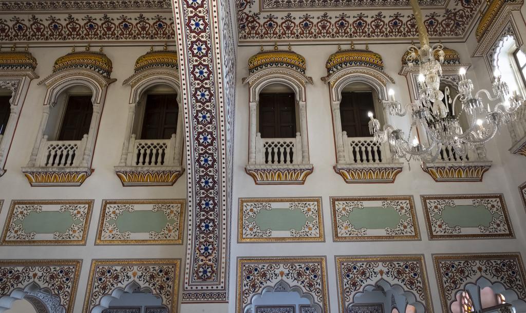 Laxmi Vilas Palace- interior by golftragic