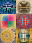 18th Mar 2019 - Six Vasarely.