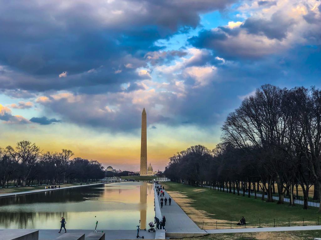 Washington Monument & Capital at Dusk by jbritt
