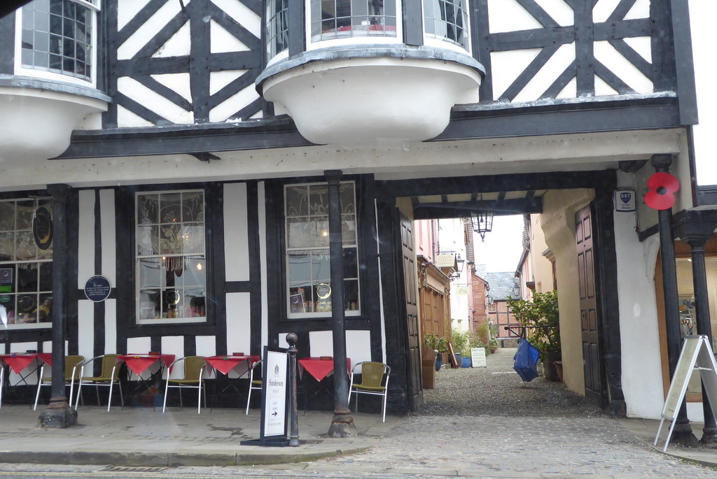 Ludlow pavement cafe by snowy