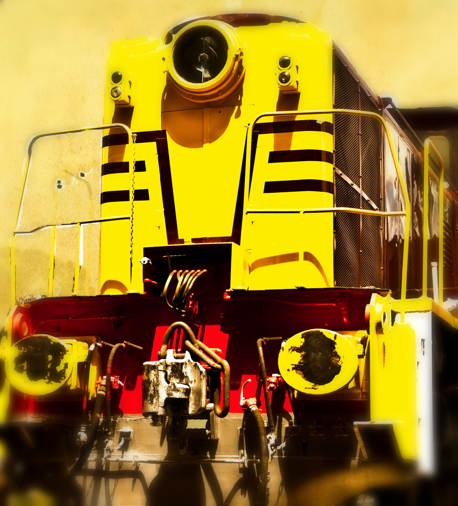 Rainbow Month - Yellow Diesel-hydraulric locomotive 7006 by annied