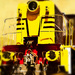 Rainbow Month - Yellow Diesel-hydraulric locomotive 7006
