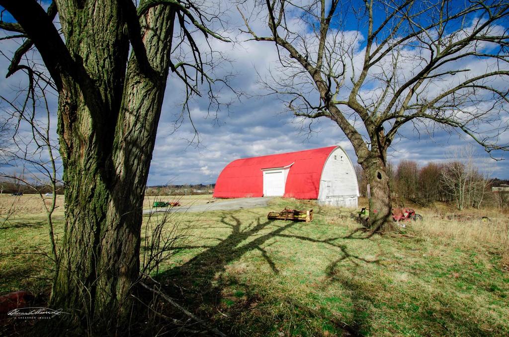 Braun Farm in the winter sun by ggshearron