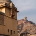 Jaipur: Amber Fort: looking uphill