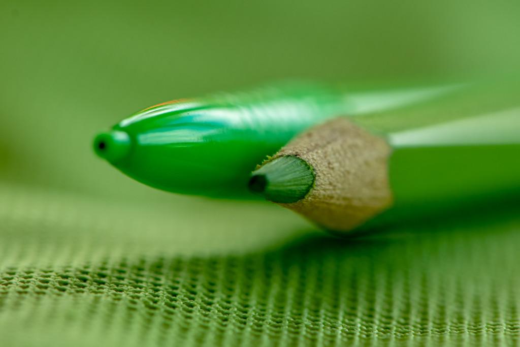 Green pencils by yorkshirekiwi