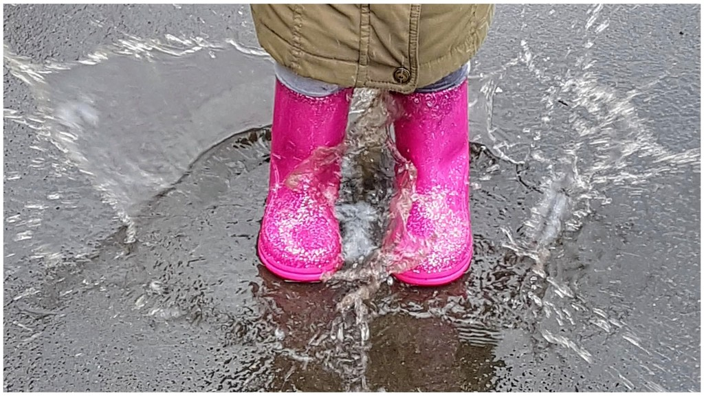 Pink wellies for my rainbow! by lyndamcg