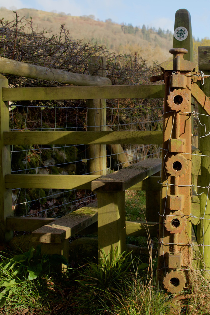 Old ironwork and stile by dailydelight
