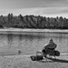 fisherman at Walden Pond