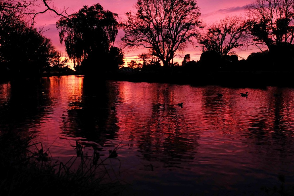 Sunrise on the river by maureenpp