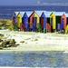 Beach huts at Muizenberg by ludwigsdiana