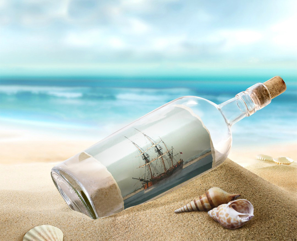 Ship in a Bottle by onewing