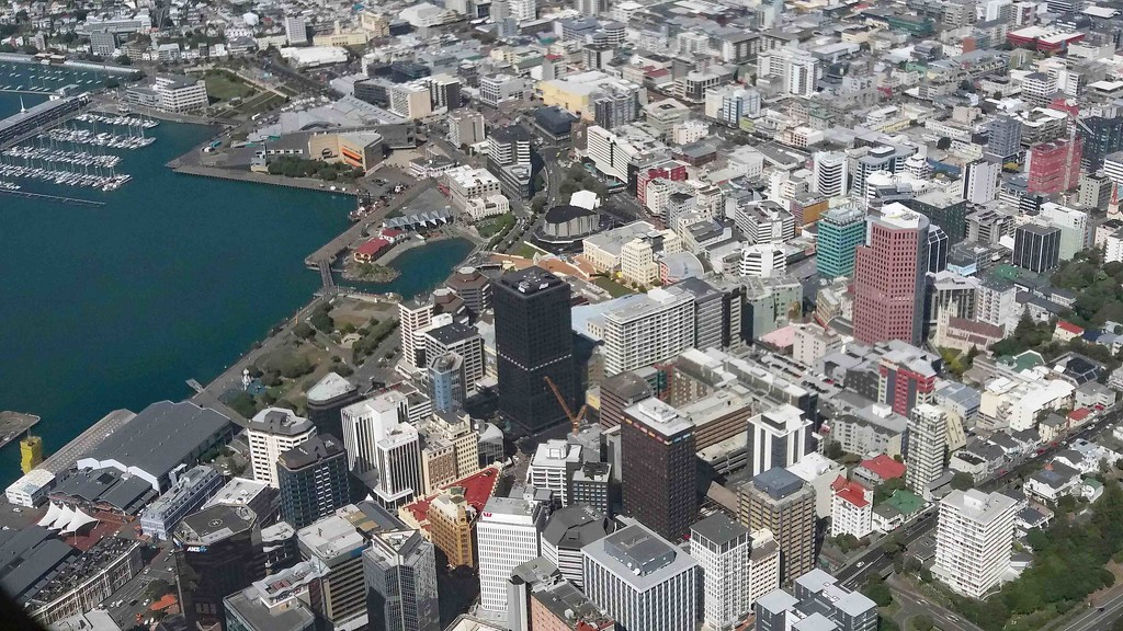 Wellington CBD from the air - New Zealand capital city by maureenpp