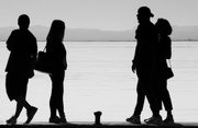 28th Mar 2019 - Silhouettes at the lake shore
