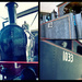 Locomotive, Steam 1033 - collage
