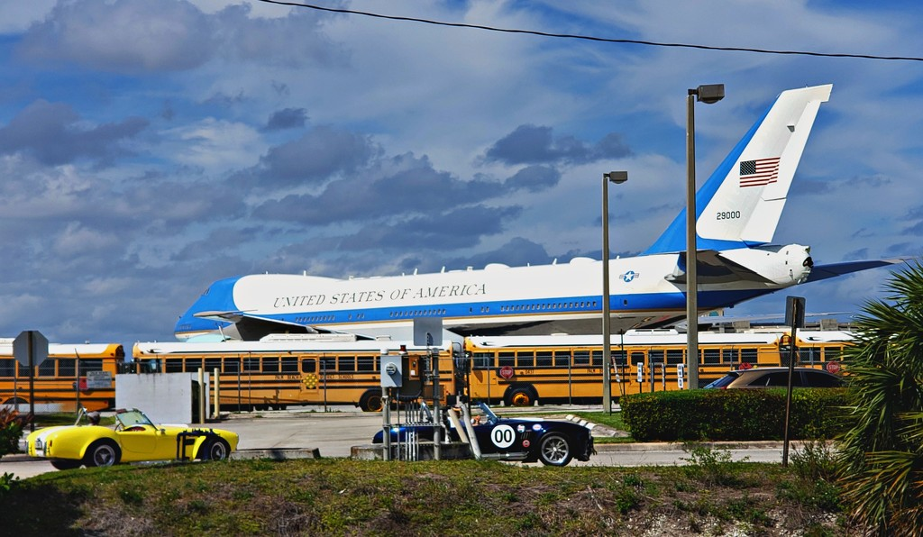 Race Cars, school busses and Air Force One by danette