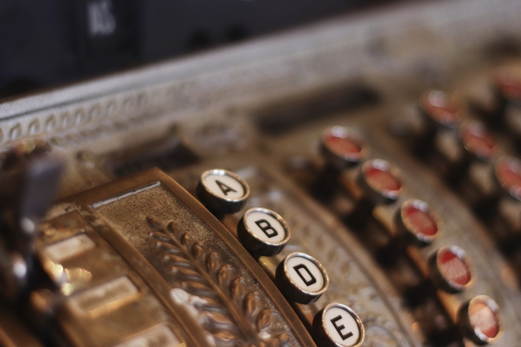 Old cash register  by janewinfrey