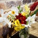 spring flowers on the table