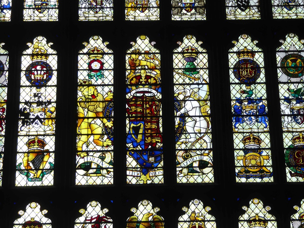 Stained Glass Window at the Palace of Westminster by cmp