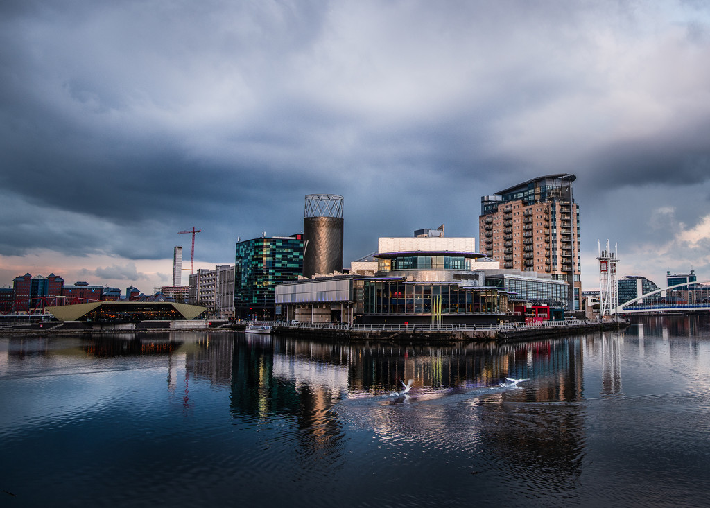 Media City sundown by inthecloud5