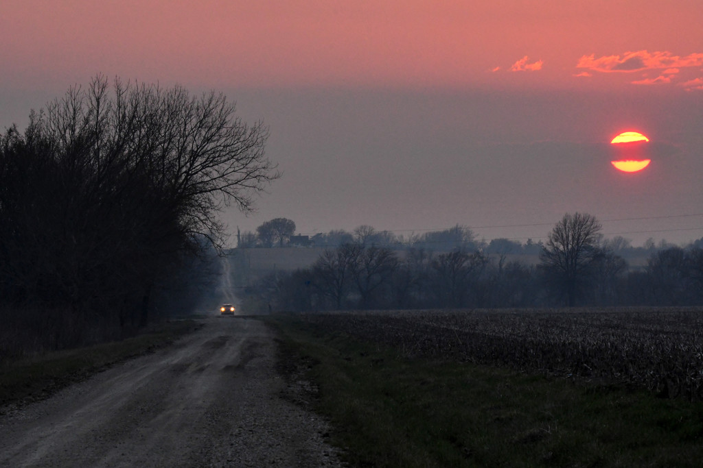 Country Drive at Sunset by kareenking