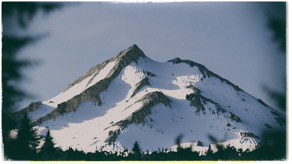 Vintage Snowy Mountain by humphreyhippo