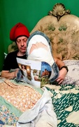 23rd Mar 2019 - Sharky reads in bed
