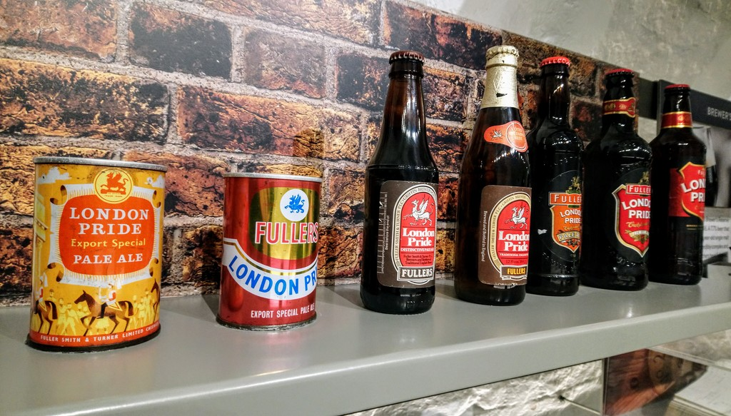 Fuller's bottles and cans through the ages by boxplayer