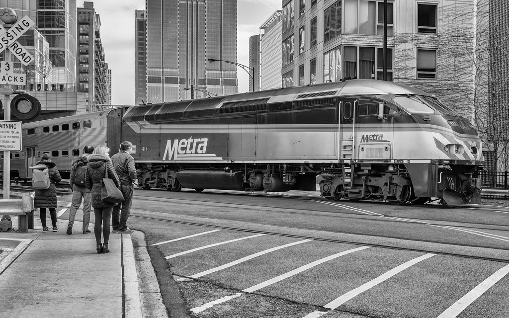 Metra Always has Right of Way by taffy