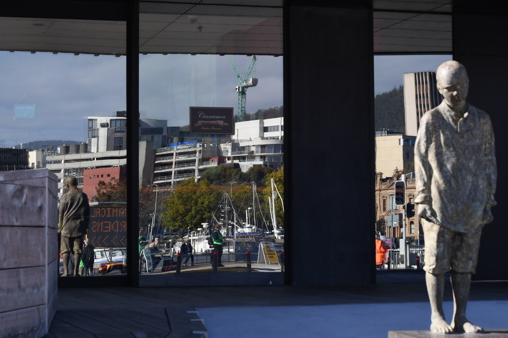 Reflections of a Town #6 - Hobart Wharf  by kgolab