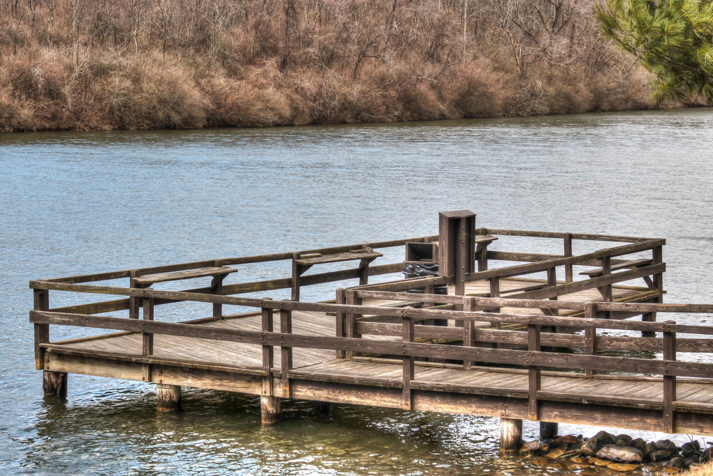 Fishing dock by mittens